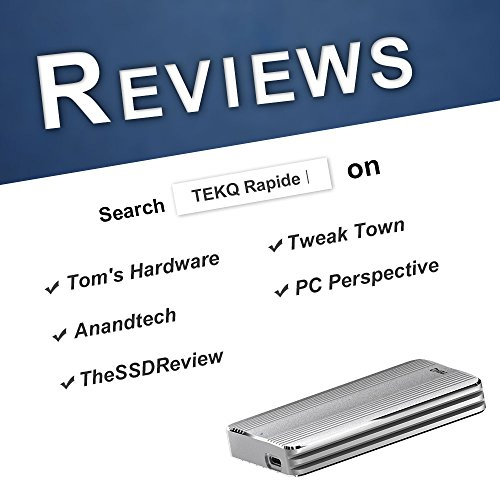 [Certified] 480G TEKQ Thunderbolt 3 Portable External SSD Bus Powered Portable 2450MB/s Read / 1850MB/s Write (NOT Compatible with Device Without Thunderbolt 3 Interface)(Silver) by TEKQ (Image #6)