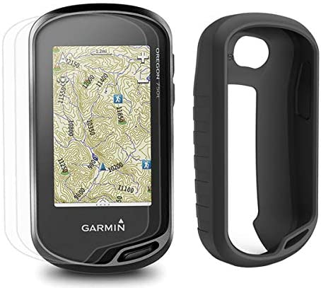 Garmin Oregon 750t Hiking Armor GPS Bundle with PlayBetter Silicone Case Black Screen Protectors x3 GPS GLONASS Handheld Built-in Wi-Fi, Camera, TOPO U.S. 100K
