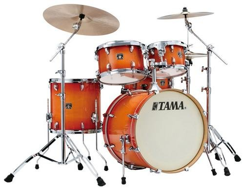 Tama Superstar Classic 5-Piece Shell Pack with 20 in. Bass Drum Tangerine Lacquer (Burst Lacquer Finish)