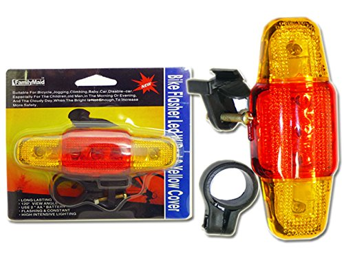 BIKE FLASHER LED W/RED & YELLO , Case of 96