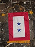 12×18 Embroidered Two Star Blue Military Service Nylon Flag 12″x18″ Banner For Sale