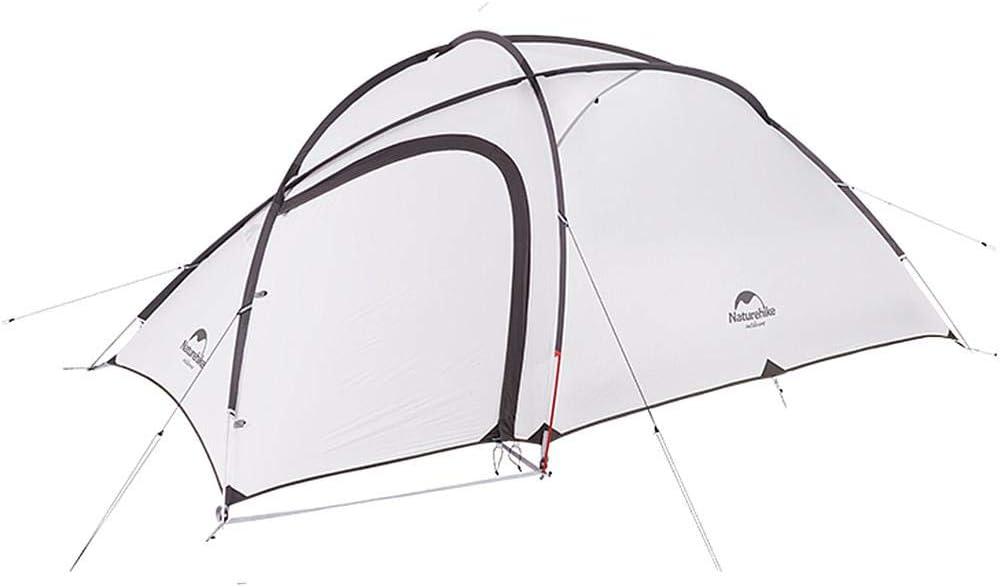 Naturehike Hiby3 2-3人用/Hiby4 4人用キャンプ テント アウトドア登山テント ゆったり前室 タープスペース付き二層構造 防雨 防風 防災 グラウンドシート付き アップグレード版 2-3人、20D、グレー+ブラック