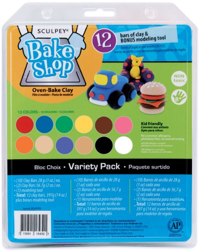 Polyform Sculpey Bake Shop Clay Variety Pack, 14-Ounce (Colored Baking Clay compare prices)