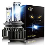 Best And Brightest H7 Auto Bulbs - Cougar Motor H7 LED Headlight Bulbs, 7200Lm 6K Review