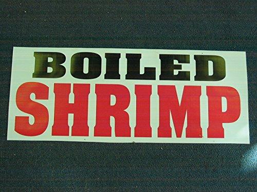 BOILED SHRIMP All Weather Full Color Banner Sign (Boiled Shrimp)