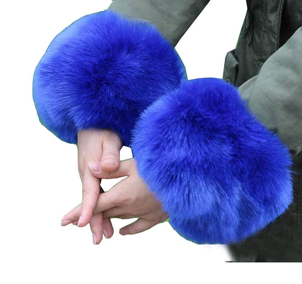 Cheerlife Damen Mädchen Faux Fell Pelz Armstulpen Stulpen Manschetten Fellstulpen Handschuhe Herbst Winter