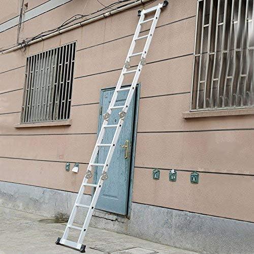 belastbar bis 150kg Homgrace Mehrzweckleiter 3,3M Alu Leiter Klappleiter Anlegeleiter 4x3 Sprossen Vielzweckleiter 12 Stufen Stehleiter Dachboden Loft Leiter