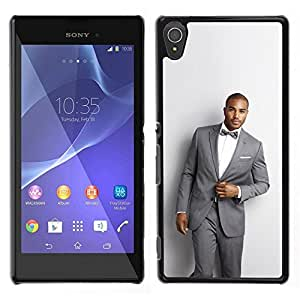 // PHONE CASE GIFT // Duro Estuche protector PC Cáscara Plástico Carcasa Funda Hard Protective Case for Sony Xperia T3 / Man Suit Handsome Bowtie Fashion Trendy /
