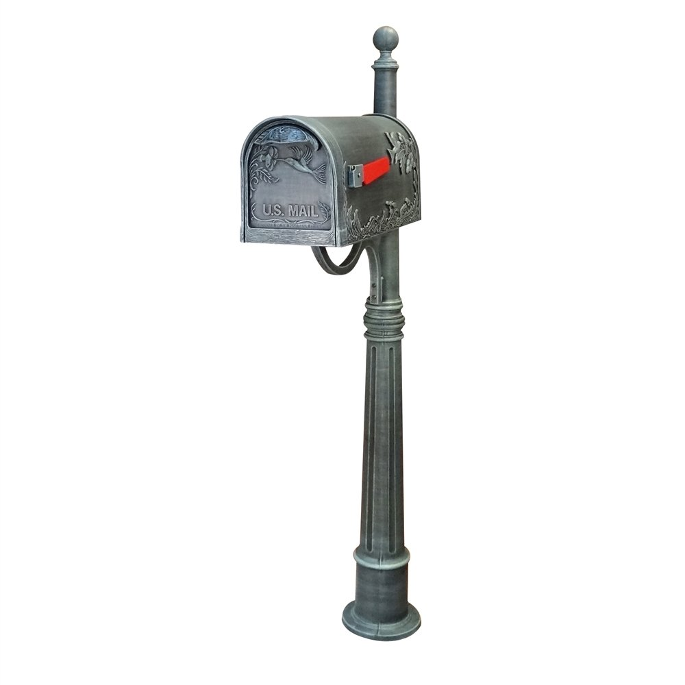 Hummingbird Curbside Mailbox with Ashland Mailbox Post Unit