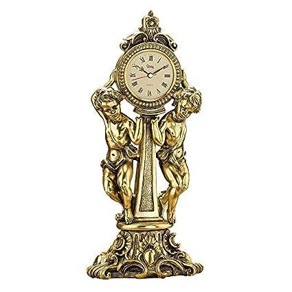 Kaminuhr Engel Uhr Antik Stil Amoretten Tischuhr Vintage