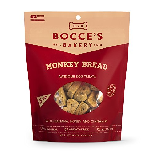 (Bocce'S Bakery Monkey Bread Biscuits Bag Dog Treat, 5 Oz)