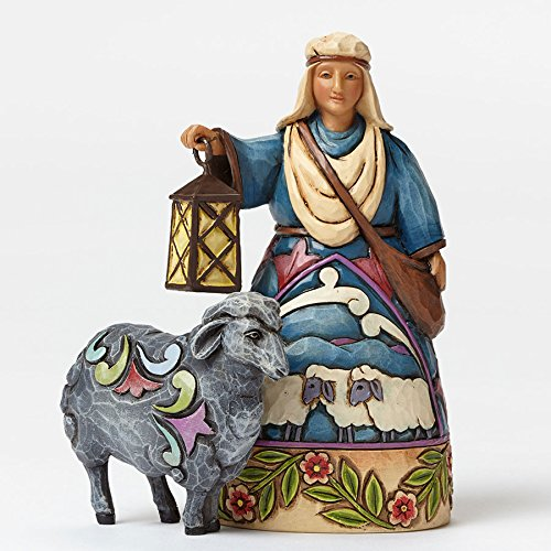Jim Shore for Enesco Heartwood Creek Shepherd-Black Sheep Mini Nativity Figurine, - Christmas Sheep Nativity Figurine