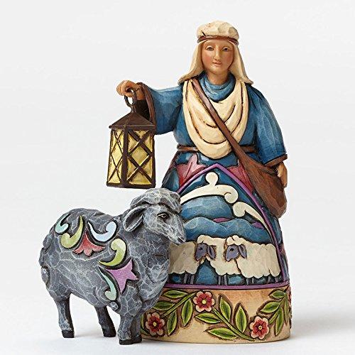 Jim Shore for Enesco Heartwood Creek Shepherd-Black Sheep Mini Nativity Figurine, - Christmas Figurine Sheep Nativity