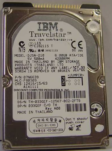 10GB IDE IBM Travelstar 20GN 4200RPM 9.5mm DJSA-210 (Ibm Telephone)