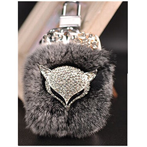 EVTECH(TM) Universal Car Smart Key Chain Leather Holder Cover Case Fob Remote 3D Handmade Luxury Shining Glitter Crystal Diamond Rhinestones (100% Handcrafted) (Pattern-A4)