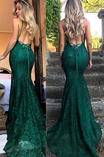 Spitze Spaghetti Tiefem Partykleid Rückenfreies Abendkleider Lovelybride Grau V Ausschnitt Träger qwtF7aZS
