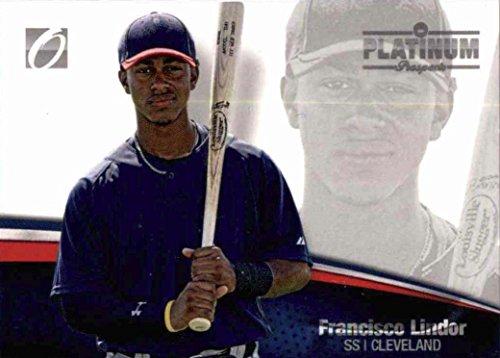 - 2012 Onyx Platinum Prospects Francisco Lindor #/500 - Cleveland Indians Baseball Rookie Card #PP26