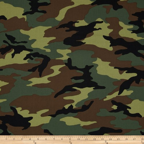 Windham Fabrics 0295842 Army Camo Green Fabric by The ()