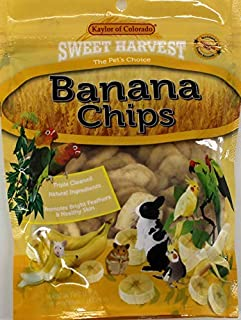 product image for Sweet Harvest Banana Chips Treat, 4.0 Oz Bag - Real Fruit for Birds and Small Animals - Rabbits, Hamsters, Guinea Pigs, Mice, Gerbils, Rats, Cockatiels, Parrots, Macaws, Conures