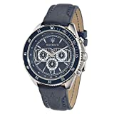 Maserati Men's 'Stile' Quartz Stainless Steel Casual Watch, Color:Blue (Model: R8851101002)