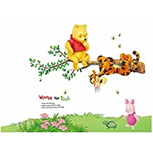 Fange DIY Removable Winnie Pooh And Tigger Wall Decal Kids Room Sticker Vinyl Graphics Art Mural Wall Stickers Nursery Decor Wallpaper 35''x32''
