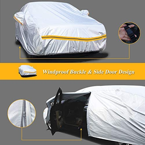 Weatherproof Car Cover Compatible with Audi R8 2006-2019 Includes Anti-Theft Cable Lock Hail Bag /& Wind Straps Protect from Rain Snow Fleece Lining 5L Outdoor /& Indoor Sun /& More UV Rays