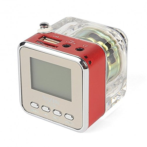 NiZHi TT-028 MP3 Mini Digital Portable Music Player Micro SD USB FM Radio (Red)
