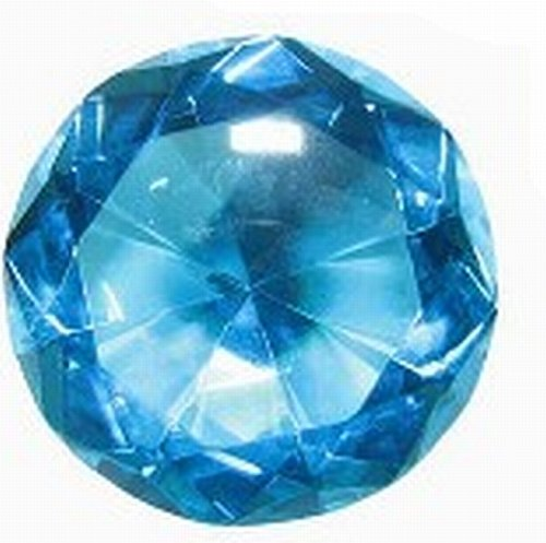 """Gem Taper - HUGE Glass Diamond. Blue Lead Crystal, Cut-Glass Gem is 3-1/8"""" Tapers to a Point 2-1/8"""" Deep."""