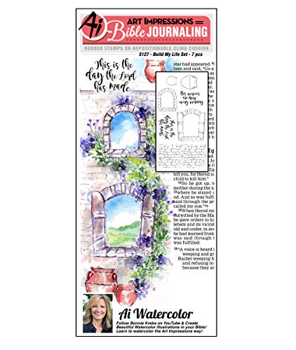 Art Impressions WC5127 Bible Journaling Watercolor Rubber Stamps-Build My Life