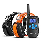 Training Dog Collar - OU-BAND Dog Training Collar 330 Yards Remote Waterproof Shock Collar with Beep/Vibration/Shock Electric E-collar