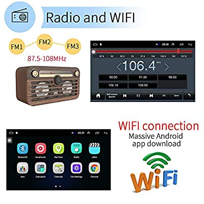 Double Din Car Stereo 10.1 Inch Android (1+16G) GPS Navigation HD Car Auto Touch Screen Car Radio with Bluetooth Indash Head Unit Support FM/WiFi/Mirror Link/Backup Camera/DVR/USB/SWC Car Audio: GPS & Navigation