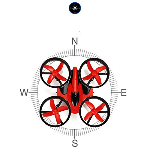 EACHINE E010 Mini UFO Quadcopter Drone 2.4G 4CH 6 Axis Headless Mode Remote Control Nano Quadcopter RTF Mode 2 (Red)