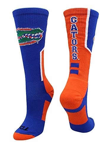 (TCK Sports University of Florida Gators Perimeter Crew Socks (Royal/Orange/White, Large))