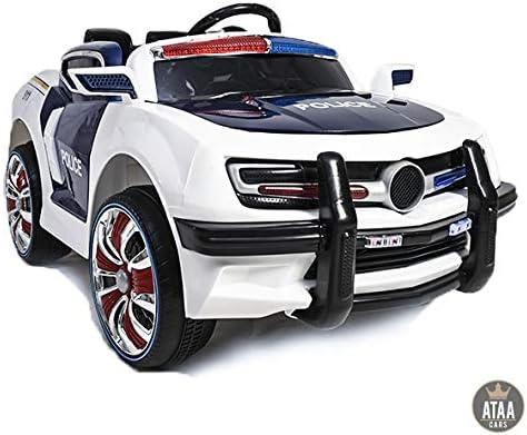Coche eléctrico para niños de Policía con Sirena - batería 12v y Mando Control Remoto Padres: Amazon.es: Juguetes y juegos