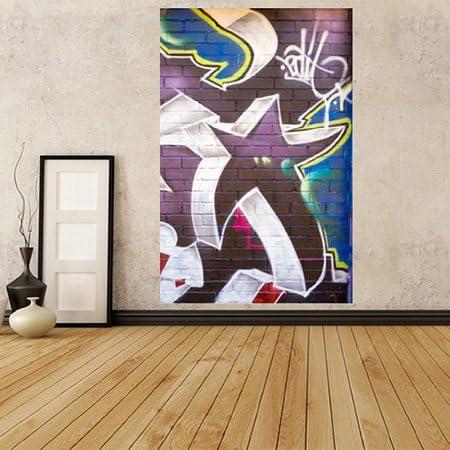 Gwm9 Graffiti Star Street Art Photo Wallpaper Mural Peel And Stick Self Adhesive Wallpaper Amazon Co Uk Kitchen Home