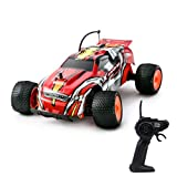 Playtech Logic Fast RC Cars Off Road Vehicle Climber 1:18 2WD High Speed Electric Radio Remote Control Racing Truggy Car Sturdy Kids Toys for Boys Girls Gifts Age 7 8 9 10 Years Up 27Mhz Red