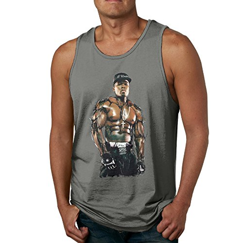 PTCY Tuac Necklace Cross Image Men's Personalized Tank Top Tank Fashion S DeepHeather (Shark Face Rain Boots compare prices)