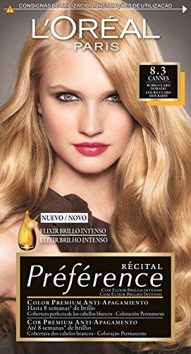 loral coloration rcital prfrence 83 cannes blond clair dor amazonfr beaut et parfum - Coloration Blond Dor