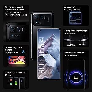 Mi 11 Ultra 5G (Ceramic Black, 12GB RAM, 256GB Storage) | Snapdragon 888 | Instant discount upto INR 5000 on SBI Cards
