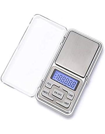 Amasawa Báscula Digital, 200 g/0.01g Báscula de precisión Profesional/pesacartas/