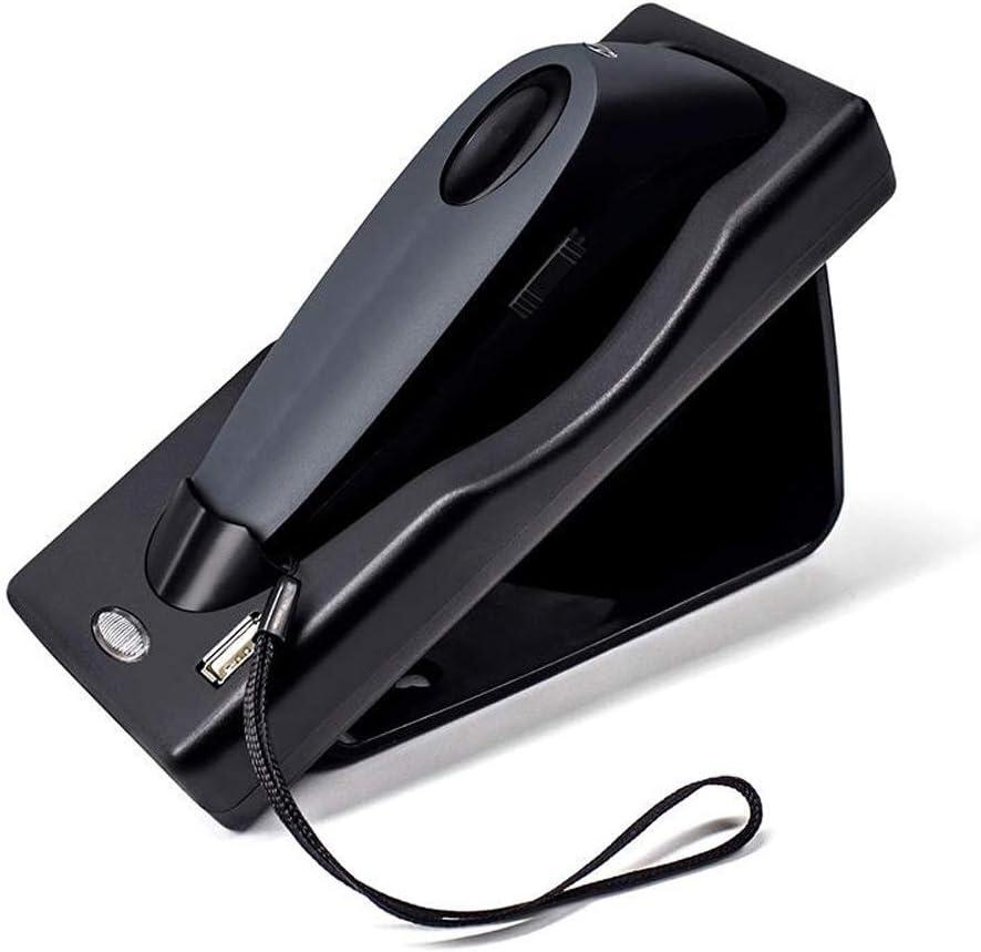 Color : Black, Size : 1D Opbsite Barcode Reader Bar Code Scanner Wireless Bluetooth Dual Mode 1D 2D Barcode Scanner Codes Scanning Machine with Pedestal
