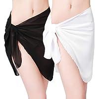 7c92aa8869045 ChinFun Women's Soft Wrap Beach Swimwear Short/Knee Length/Long Cover Up  Pareo Swimsuit