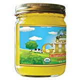 Organic Grass Fed Ghee Butter by Tropical Green Organics, 8 Ounce, From Pasture Raised Cows, Non-GMO, Gluten Casein Lactose Free & 100% Certified Organic