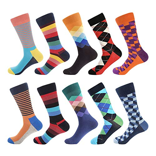 - Bonangel Men's Fun Dress Socks-Colorful Funny Novelty Crew Socks Pack,Art Socks
