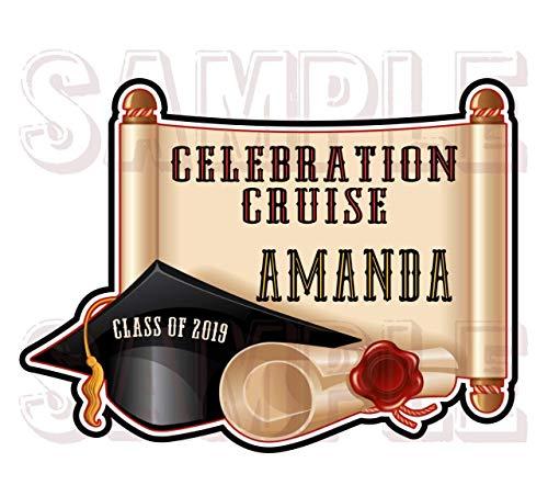 Celebration Cruise Magnet | Graduation Cruise Door Magnet | Graduation Cap Magnet | Celebration Magnet]()