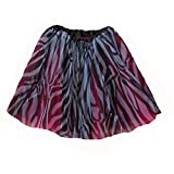 Womens Plus Size Ballet Tutu Waist 28-56 Length 16-17 by Southern Wrag Company (Zebra Hot Pink)