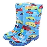horizon where hope spread Boys Girls Kids Children Wellingtong Boots Wellies Rain Boots Shoes (12M, Blue)