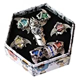 Anime Cosplay Katekyo Hitman Reborn Ring 7 PCs and Necklace by super9