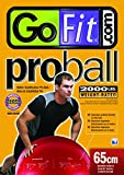 GoFit Red 65cm ProBall Stability Ball for Yoga, Fitness, Balance, Exercise Ball