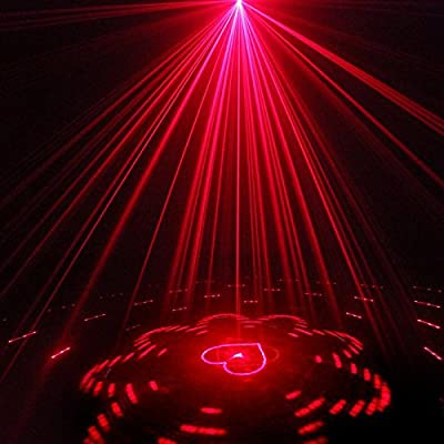 COOWOO Mini Stage Projection Lights Decolighting Stage Laser Light Christmas Decorations Outdoor RGB Led Lights Auto Sound Active Party Light Combo for Family Parties Birthday Celebration